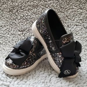 NWB JoJo Black Bow Shoes